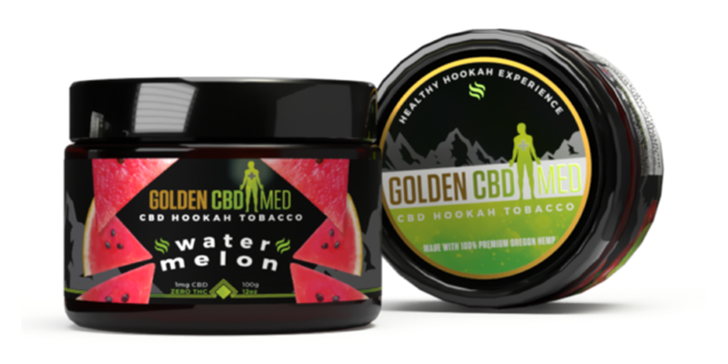 Golden CBD Med 3D packaging and product tub renderings