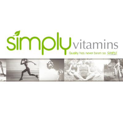 Simply vitamins graphic exercise design brand banner