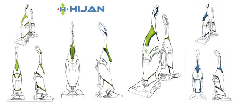 Hijan industrial design vacuum product concept art sketches