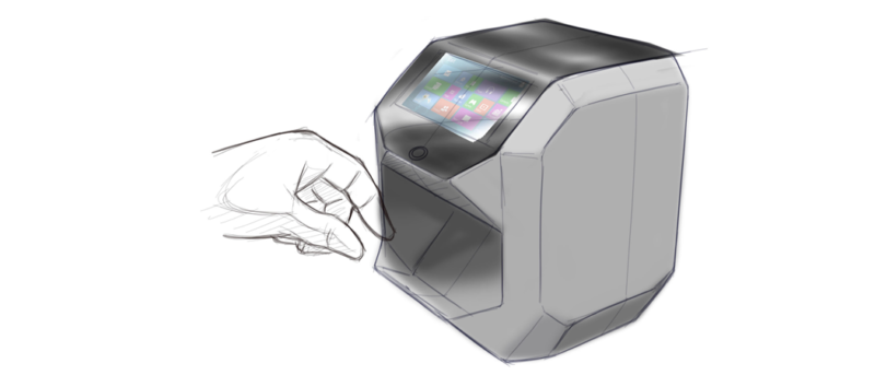 Industrial design concept sketch of a product