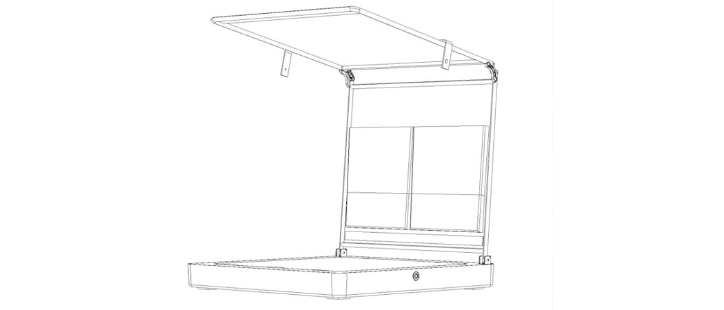 cocktail cabana drink and pool accessory patent protection product drawing