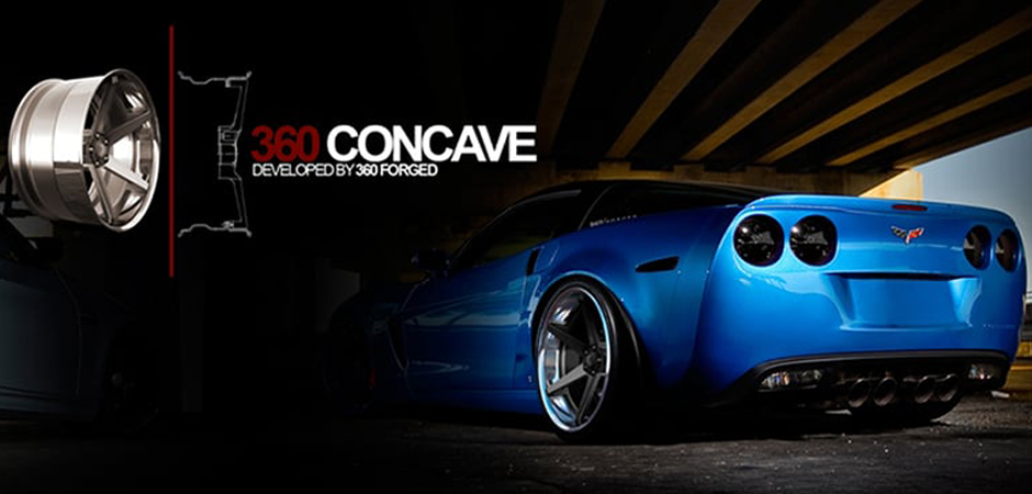 photo realistic 3d render of a car rim on a background with a Lamborghini by 360 concave