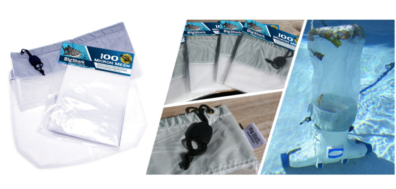 BigShark pool cleaning accessory bags image compilation