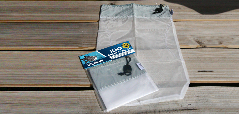 Big Shark Pool cleaning accessory bag on a south florida deck