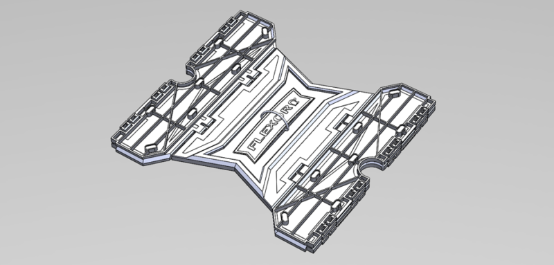 3D cad model of the flexor physical therapy mechanical engineering idea