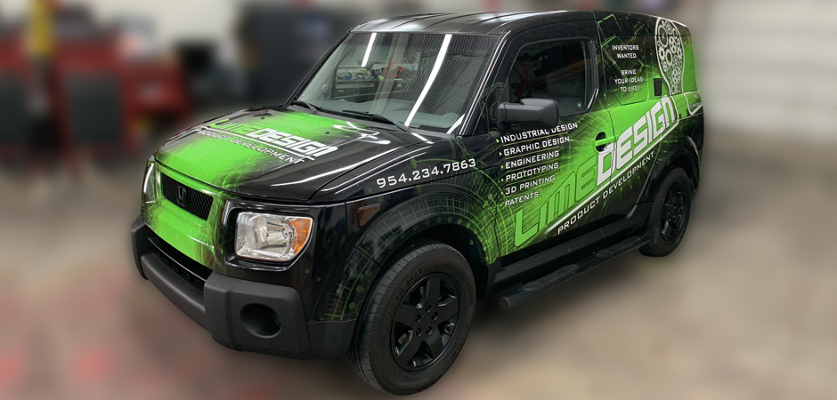 Lime Design Lime mobile automotive graphic design car wrap advertising South Florida office