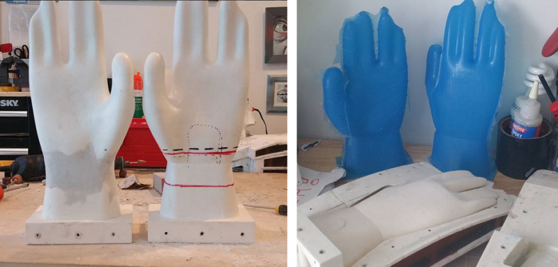 Houseware Products Magnefuse silicone barbecue glove product prototype with industrial mold