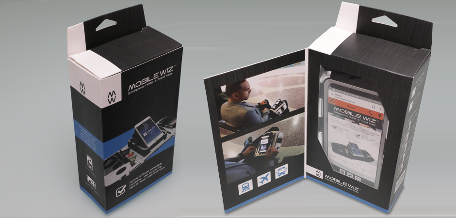 Mobilewiz smartphone lap accessory product packaging design and development