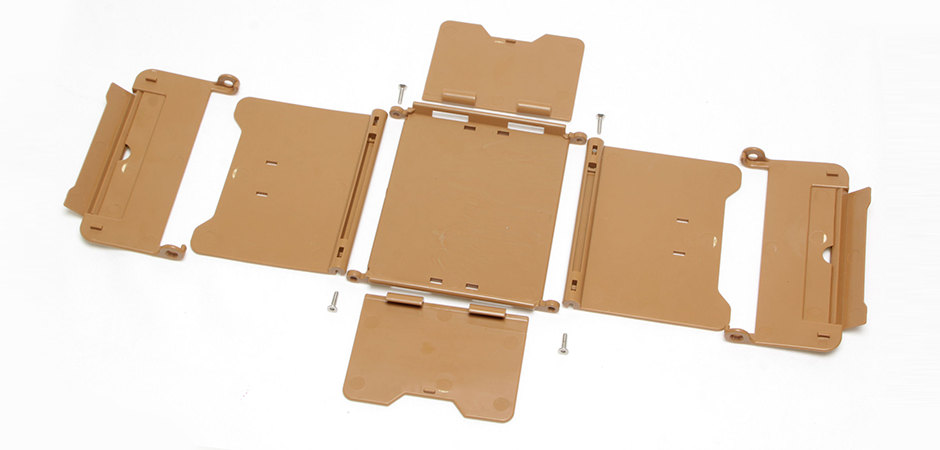 Purse prop industrial design plastic folding 3D printed prop