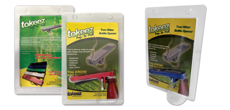 tokeez manufactured novelty smoking product design in its packaging
