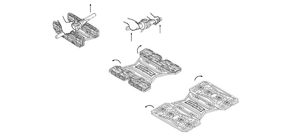 Patent drawing of Flexor physical therapy medical product