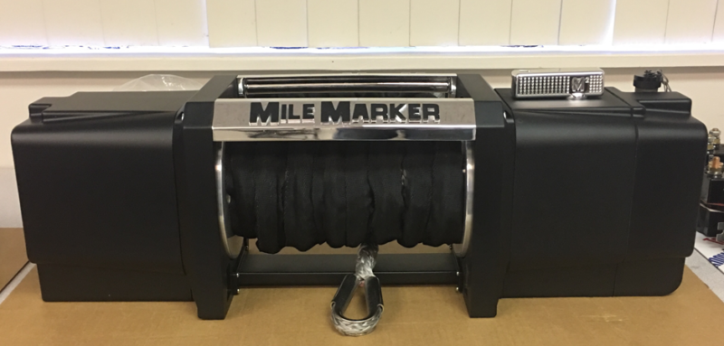 3D printed Mile Marker winch plastic prototype with metal part