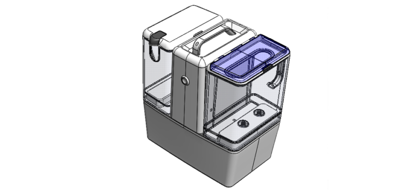 3D CAD model of Pidge Industries water treatment medical product opening