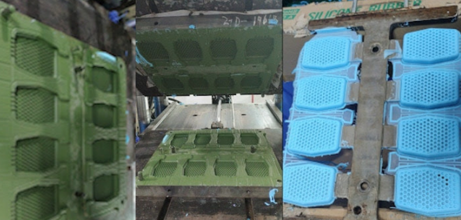 Molds and manufacturing process of the Sud Stud silicone soap sleeve product